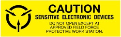 Caution - Sensitive Electronic Devices - Do Not Open