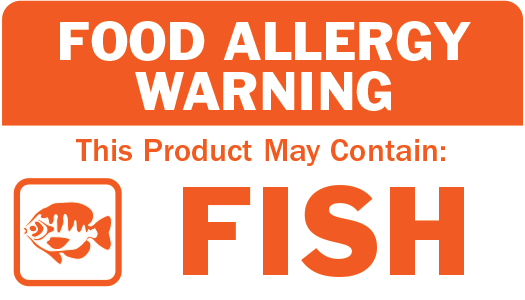 Allergen Label - This Product May Contain Fish