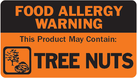 Allergen Label - This Product May Contain Tree Nuts