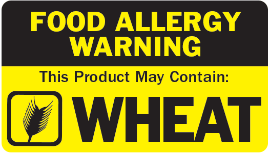 Allergen Label - This Product May Contain Wheat