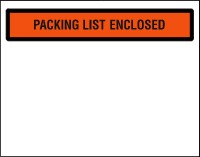 Packing List Enclosed - Top